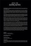 """Cartaz de apresentação da Exposição """"Aves de Gonçalves"""". Clicando no """"view full size"""" no canto inferior direito da tela um nova imagem abrirá numa nova tela, onde será possível ler o conteúdo do texto."""